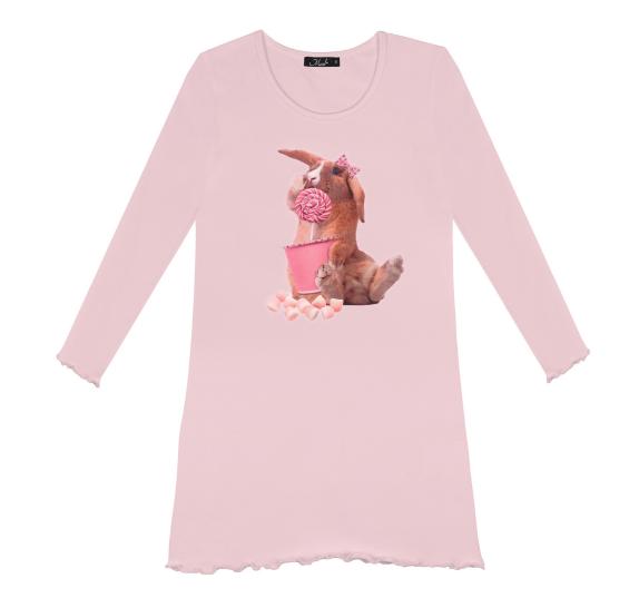Nightdress Rabbit Candy - Light pink