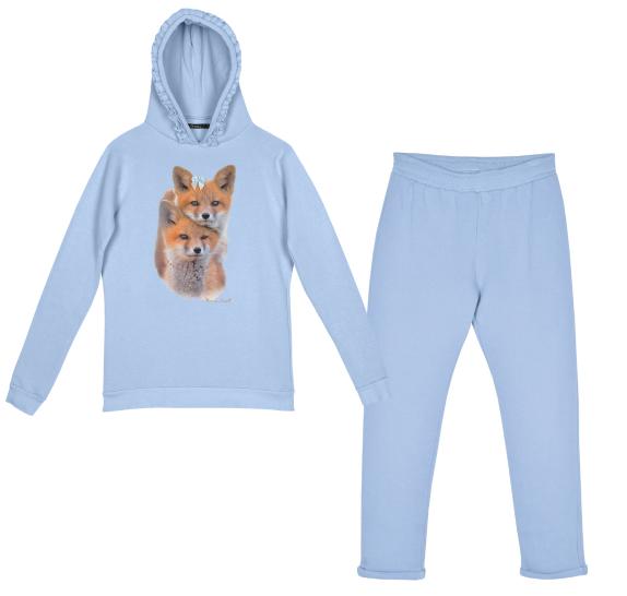 Homewear light blue - foxes