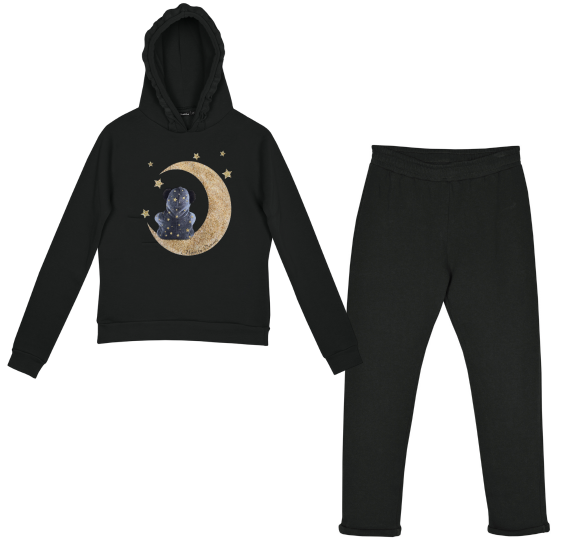 Homewear black - beer on moon