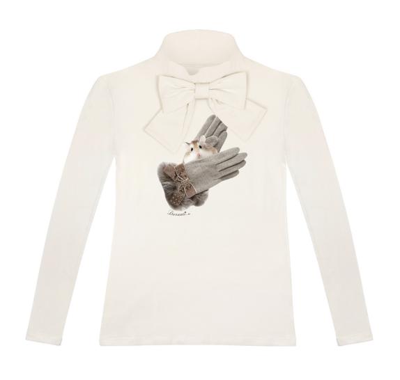 T-shirt bow - Ivory - gloves hamster