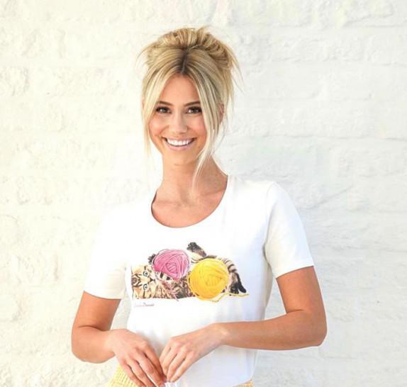 Pyjama short + t-shirt Yellow - Kitten Wool