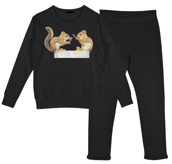 Homewear black - Squirrels