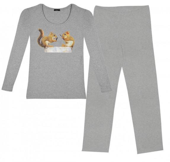 Pyjama - Grey - Squirrels