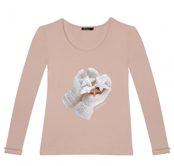 LSF Gloves with frills on sleeves - Old pink