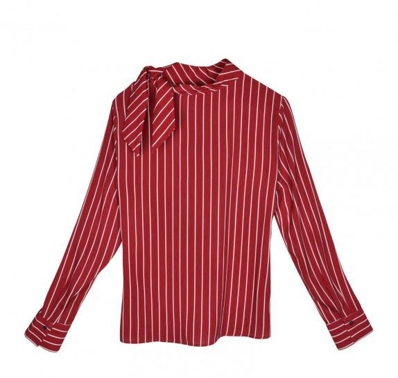 Bordeaux striped blouse