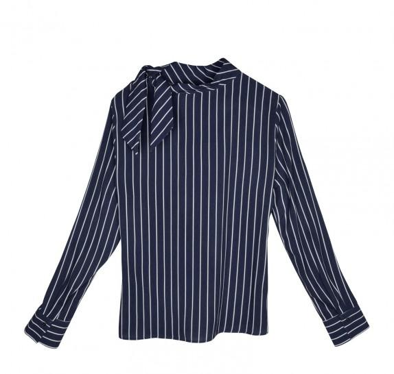 Striped navy blouse