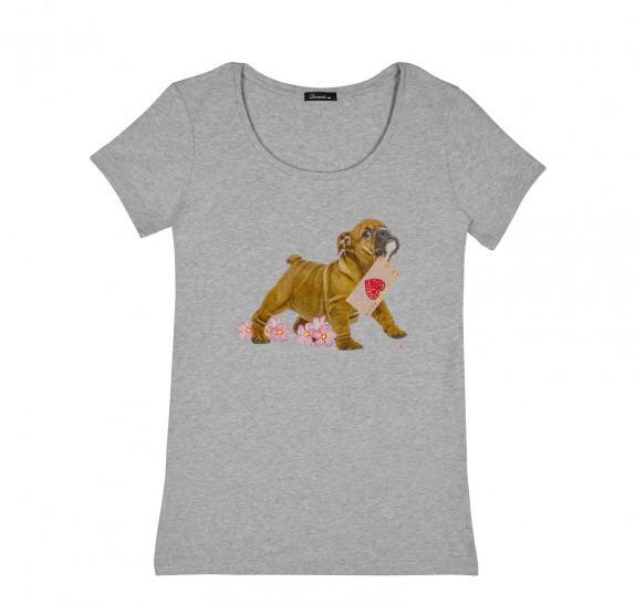 Bulldog T-shirt Grey