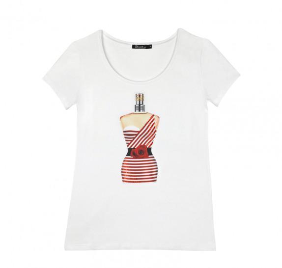 Perfume JPG T-shirt White