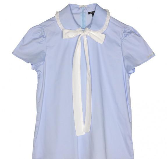 Blouse zipper Light Blue