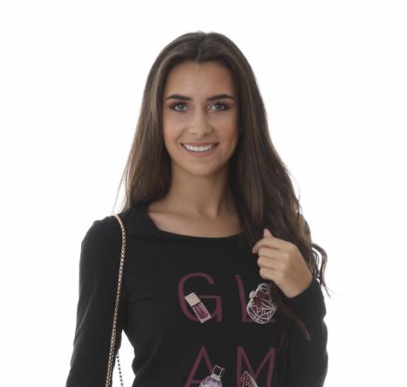 Long sleeves black t-shirt - glam