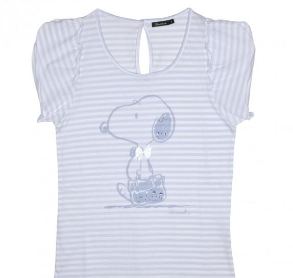 Snoopy striped t-shirt
