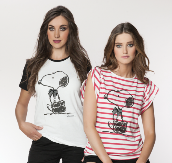 Snoopy striped t-shirt red/white