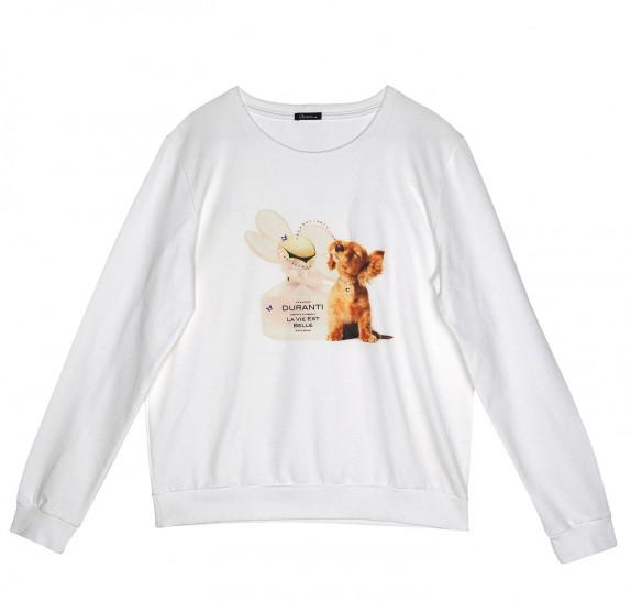 Sweater with lace - white - dog perfume