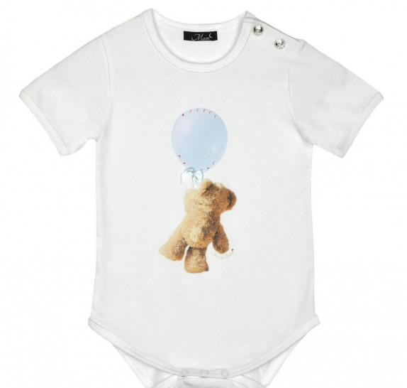 Babyromper - blue balloon bear