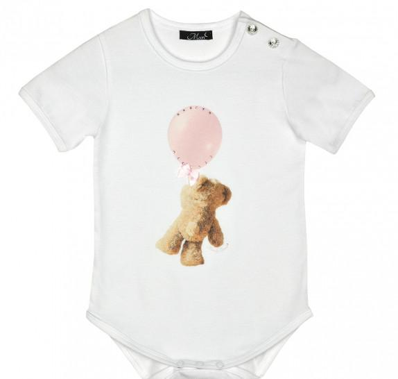 Babyromper pink balloon bear