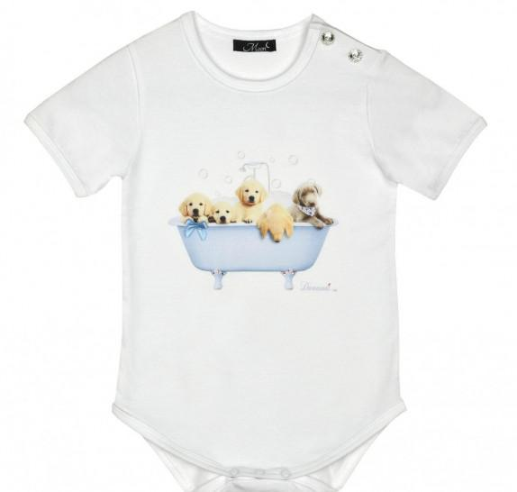 Babyromper - dogs in bath