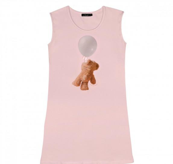 Dresstop bear balloon - lightpink