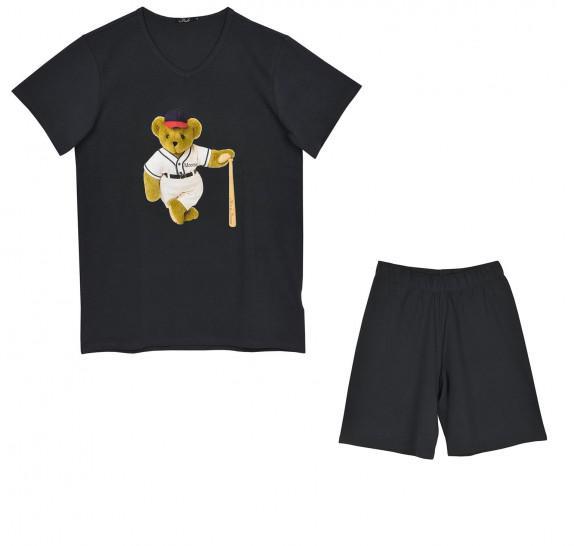Pyjama Boys t-shirt + short - Moontje - dark blue