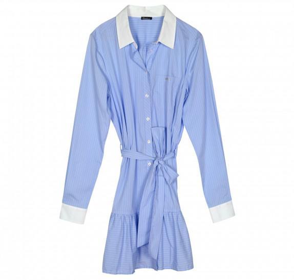 Dresss Long sleeves - lightblue