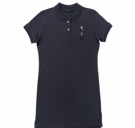 Polo Dress - navy - Snoopy wit Linus