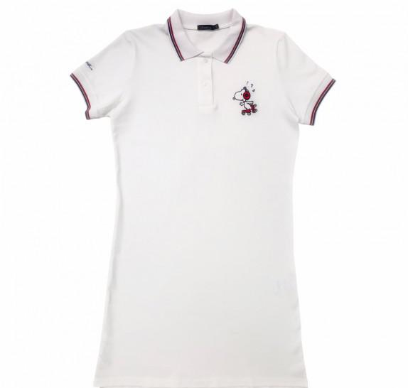 Polo Dress - white - Snoopy rollerblade