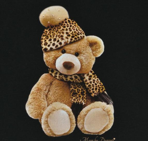 bear shawl leopard_BLACK_DET