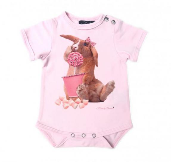 Babyromper - light pink Rabbit Candy