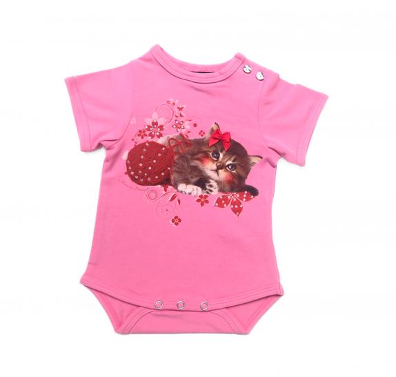 Babyromper - Pink - kitten wool