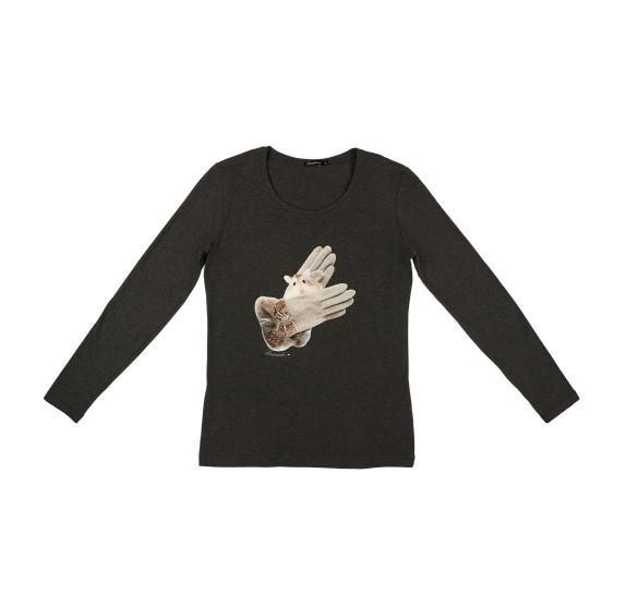 Dark Grey t-shirt long sleeves - gloves hamster