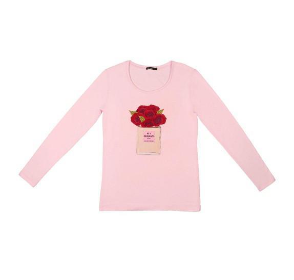 Light pink t-shirt long sleeves - Perfume Roses