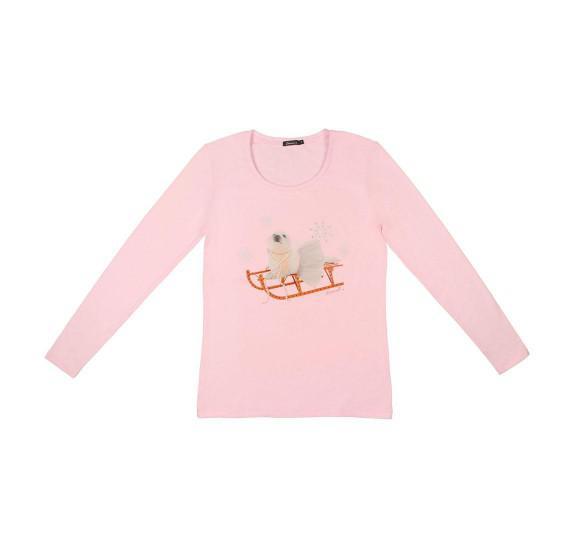Light Pink t-shirt long sleeves - seal pup