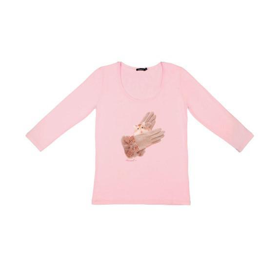 Light Pink t-shirt 3/4 sleeves - Gloves hamster
