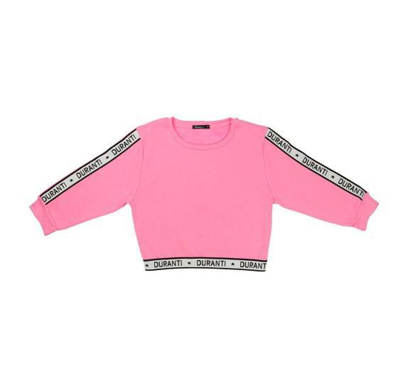 Cropped Pull Logo - Barbie pink - 3/4 sleeves