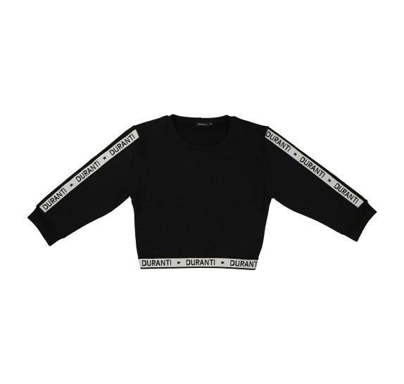 Cropped pull logo - Black - 3/4 sleeves