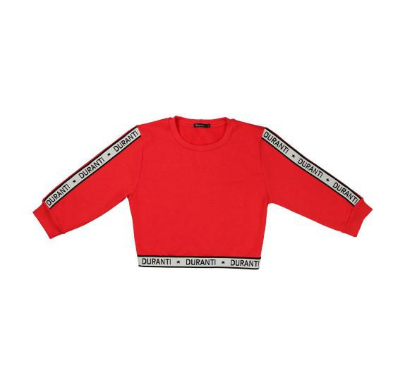 Cropped pull logo - red - 3/4 sleeves