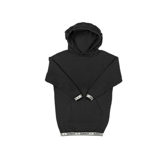 Oversized Hoodie dress logo - Black