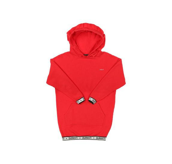 Oversized Hoodie dress logo - Red